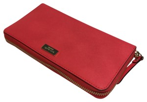 Kate Spade Kate Spade Newbury Lane Neda Wallet Geranium Red Saffiano Leather
