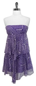 BCBGMAXAZRIA short dress Purple Bcbg Max Azria Silk on Tradesy