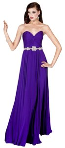 Jovani A-line Strapless Chiffon Jewels Beaded Dress