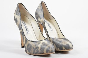 Brian Atwood Tanblack Leopard Multi-Color Pumps