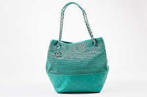 Chanel Leather Tote in Teal