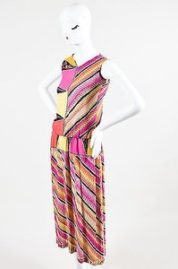Emilio Pucci Vintage Patterned Silk Tank Set Skirt Multi-Color