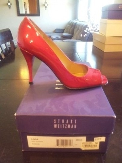 Stuart Weitzman Red Quasar Pumps