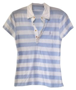 Ralph Lauren T Shirt White with baby blue stripe