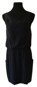 Theory Draped Asymmetric Pockets Dress