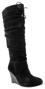 INC International Concepts Suede Wedge BLACK Boots