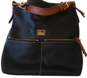 Dooney & Bourke Leather Cobble Stone Like New Hobo Bag