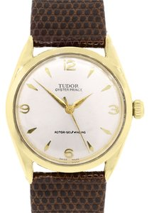Tudor Tudor 7965 Gold Shell Oyster Prince on Brown Leather Watch
