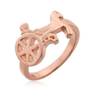 9k Rose Gold Filled Horse Ring Free Shipping