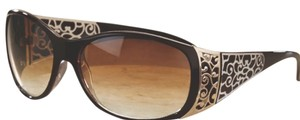 Monroe & Main ** NWT ** Scroll Women's Accent ( Brown ) Sunglasses