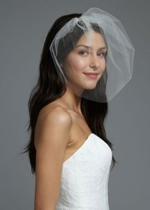 David's Bridal Sheer Tulle Bridal Blusher (ivory)