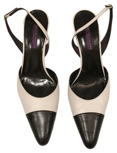 Ralph Lauren Slingback Midheel white and black Pumps