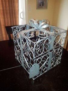 Cathy's Concepts Silver Reception Gift Card Holder Other