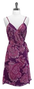 Moschino short dress Pink/Purple Silk on Tradesy