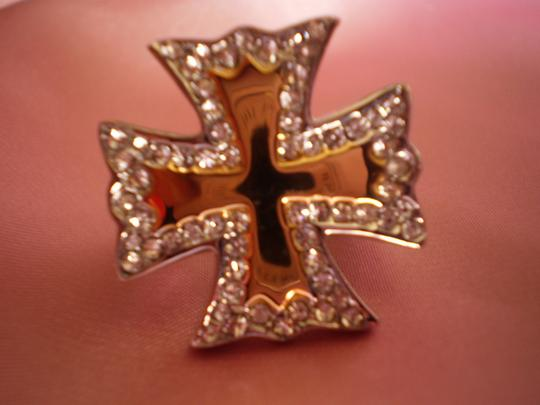 Other White Austrian Crystals in ION Plated YG & Stainless Steel size 6