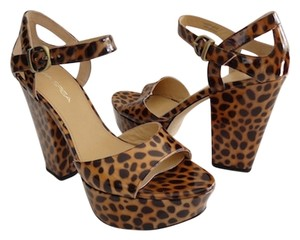 Via Spiga New In Box Animal Print - Leopard Platforms