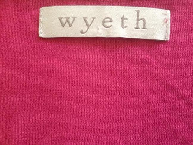 Wyeth by Todd Magill V-neck Top Magenta