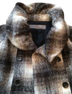 Zara Wool Plaid Winter Alpaca Coat