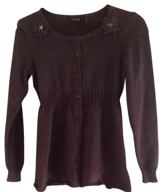 Preload https://img-static.tradesy.com/item/1410296/daisy-fuentes-charcoal-heather-cardigan-size-4-s-0-0-650-650.jpg