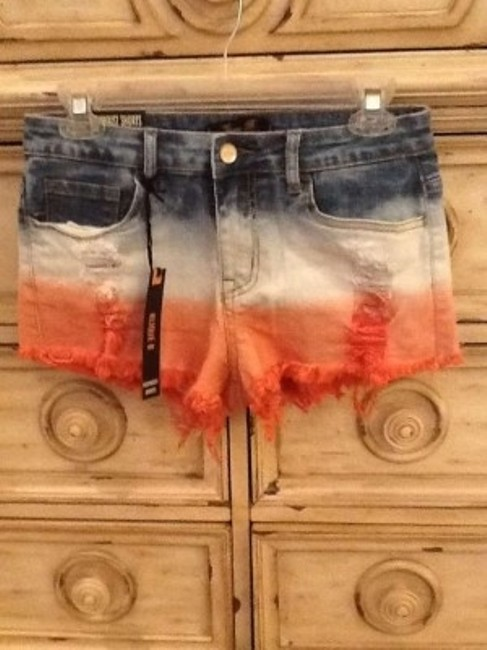 Klique B Cut Off Shorts Red, white, blue