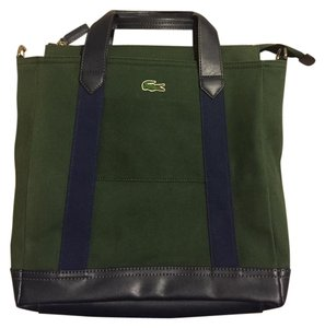 Lacoste Casual Canvas Versatile And Green with blue Messenger Bag