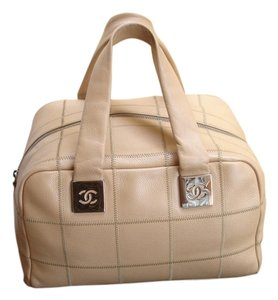 Chanel Huge Italy Satchel in Beige/Champagne