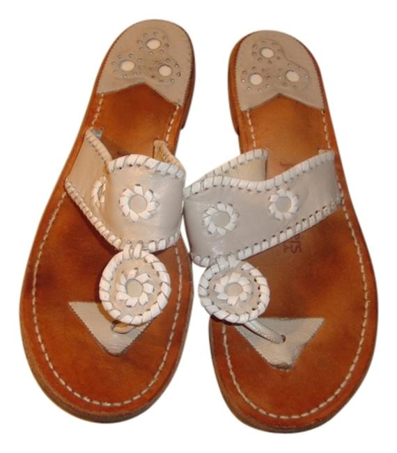 Item - Gray and White Navajo Sandals Size US 9 Regular (M, B)