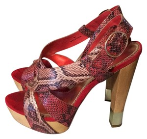 Sole obsession Red/pink snakeskin Platforms