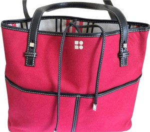 Kate Spade Leather Tote in Red & Black