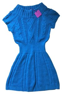 Calypso short dress Teal Cashmere Sweater on Tradesy