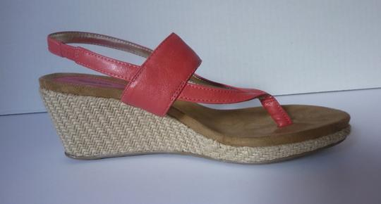 Style & Co Wedge Grapefruit Red Sandals