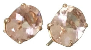 Personal Collection Final reduction. 3.30ctw NATURAL Morganite Studs in 14K Rose Gold
