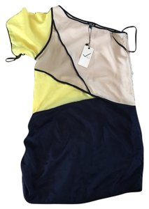 Very J short dress blue/yellow on Tradesy