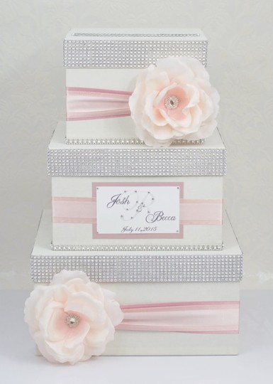 Card Box / Box / Money Box - 3 Tier - Ombre Pink - Personalized