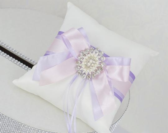 - Card Box / Money Box and Ring Pillow - Ombre Lavender Flower Girl Accessory