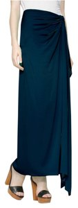 Diane von Furstenberg Resort Evening Silk Maxi Skirt Navy