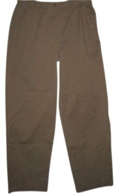 Coldwater Creek V# Y012 Relaxed/Straight Legged Cotton/Spandex Relaxed Pants Tan