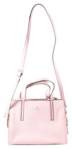 Kate Spade Pebbled Leather Dominique Satchel in pink