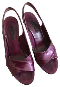 Louis Vuitton Purple Wedges
