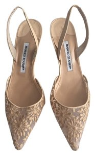 Manolo Blahnik Natural Pumps