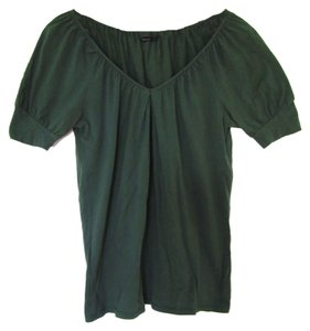 BCBG Max Azria V-neck Blouse T Shirt Forest Green