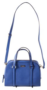 Kate Spade Saffiano Leather Goldtone Hardware Satchel in blue