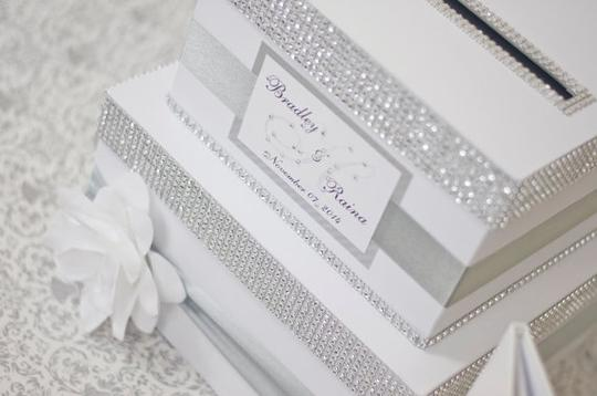 - Box + Guest Book + Pillow - Silver Other