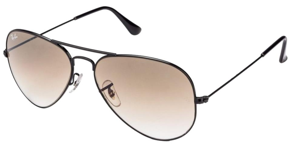 4a1d06ca0 Ray-Ban Black Frames W/ Brown Gradient Lenses Aviator W/ - Includes ...