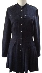 A|X Armani Exchange short dress Blue Long Sleeves Modal Silky on Tradesy
