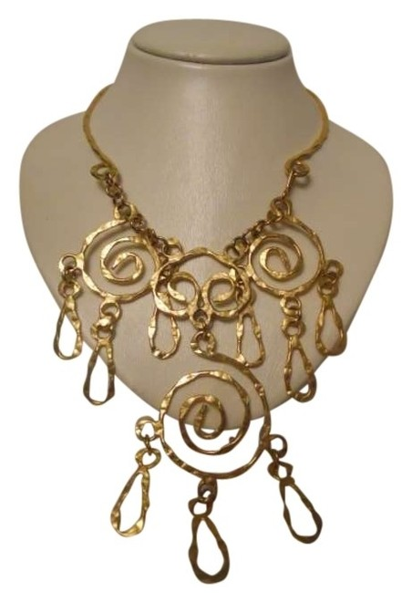 Gold Tone Statement Necklace Gold Tone Statement Necklace Image 1