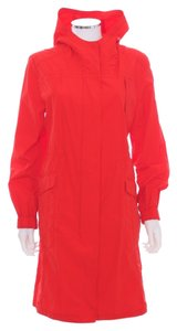 Eileen Fisher Hooded Elastic Rain Wind Raincoat