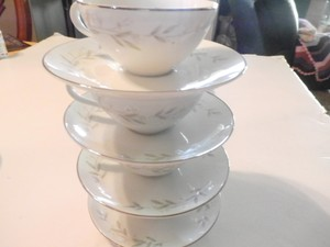 St Regis Fine China 101 8 Piece Set Tea Coffee Cup Saucer Set Japan Platinum Trm