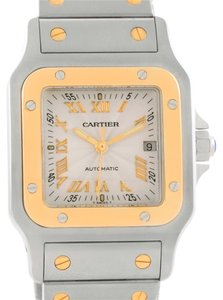 Cartier Cartier Santos Galbee Steel Yellow Gold Guilloche Dial Watch W20058C4