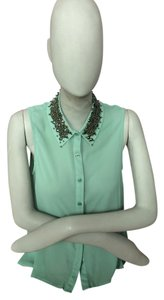 Lush Studded Nordstrom Top Sea Foam Green